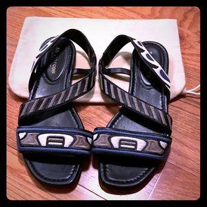 Sergio Rossi flat sandals NWOT
